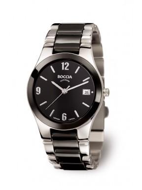 Reloj de Titanio y Ceramica Negra Antialergico