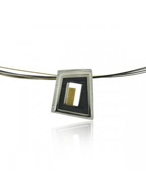 Collar AUDAR de plata y oro