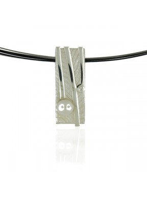Collar AUDAR de plata con una perla y brillante