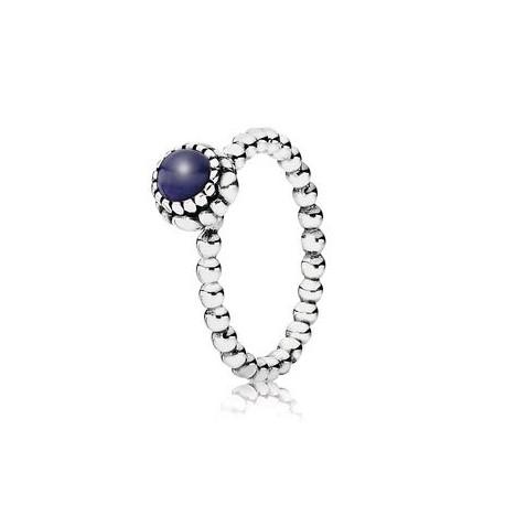anillo pandora piedra morada