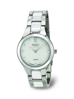 Reloj de Titanio y Ceramica Blanca Antialergico