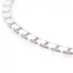 Collar de Titanio Antialergico y Ceramica blanca