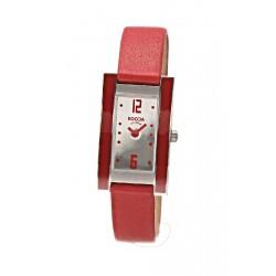 Reloj de Titanio Antialergico Correa de Piel roja