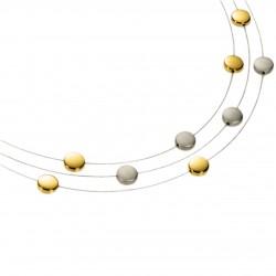 Collar de Titanio Antialergico con Diamantes y Oro