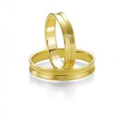 Alianzas de Boda Oro Amarillo Breuning Smartline Slim