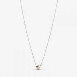 Collar Pandora Corazón de Centro dorado
