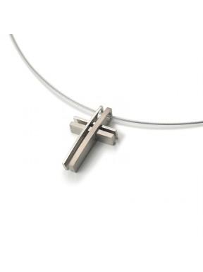 Creu de Titani Antialèrgic i Esmalt Negre
