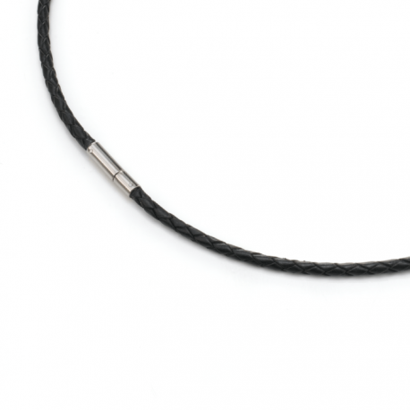 Cable de Cuero Trenzado Marron o Negro