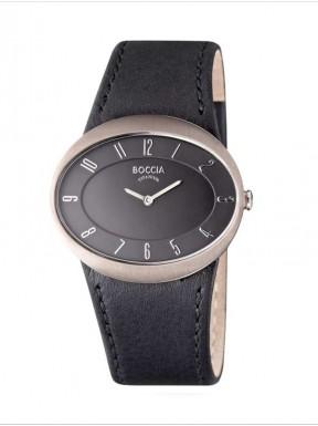 Reloj de Titanio Antialergico Correa Piel Negra