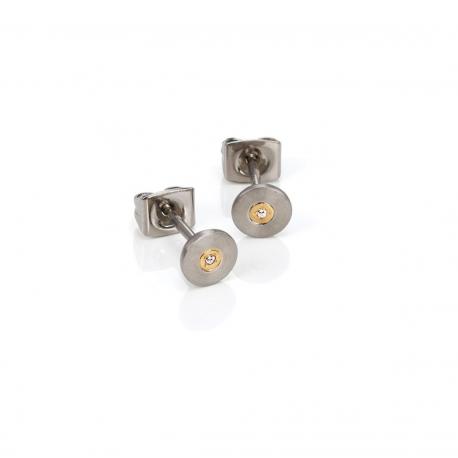 Pendientes de Titanio Antialergicos con Diamantes