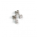 Pendientes de Titanio Antialergicos Cuadrados con 8 Diamantes