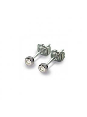 Pendientes de Titanio Antialergicos con 2 Diamantes