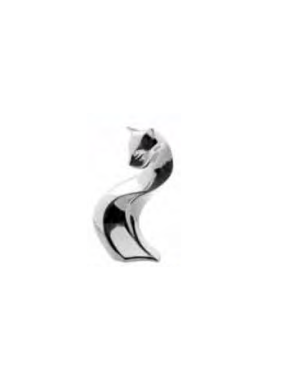 Figura Gato Plata