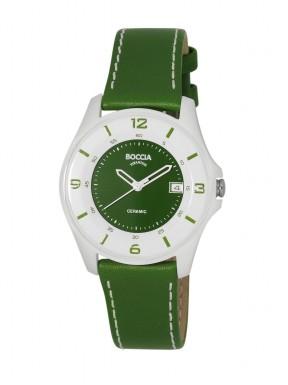Reloj de Titanio Antialergico Correa de Piel Verde